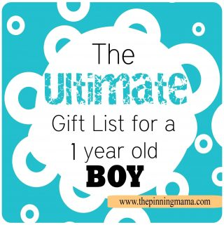 The Ultimate Gift List for a 1 Year Old Boy!