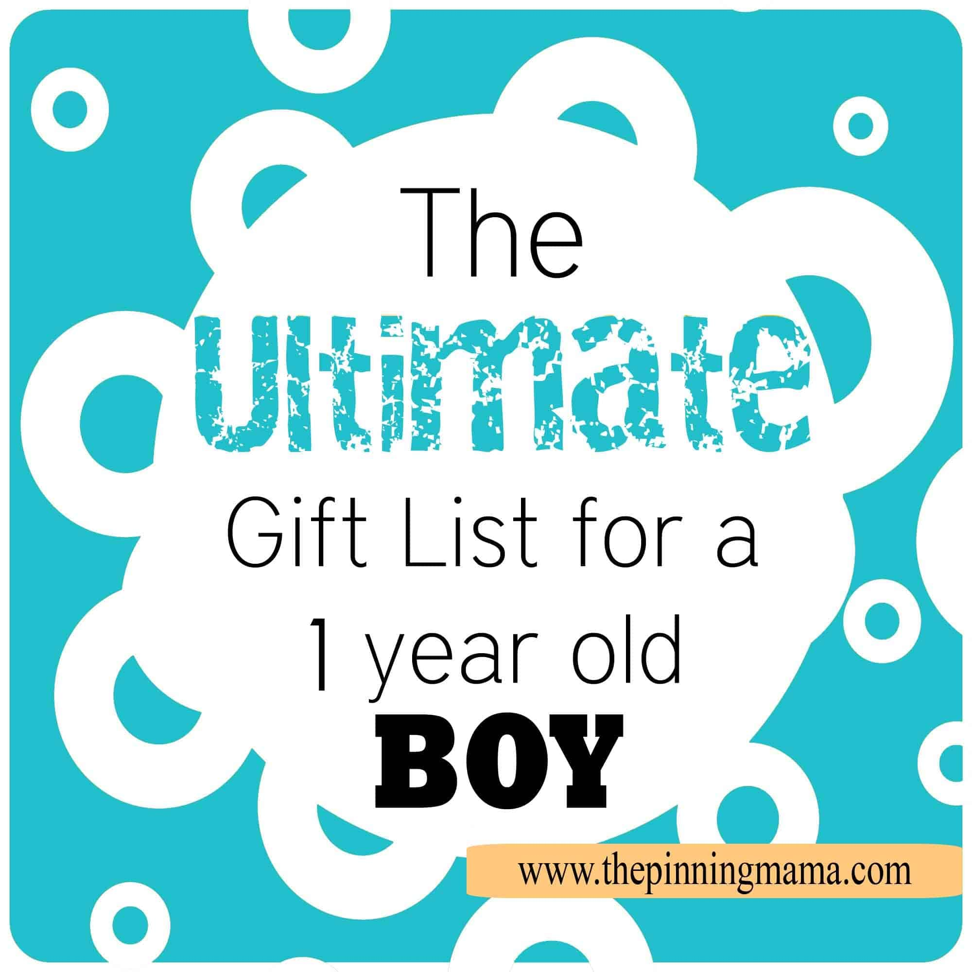 Ultimate Gift List for a 1 Year Old Boy | The Pinning Mama