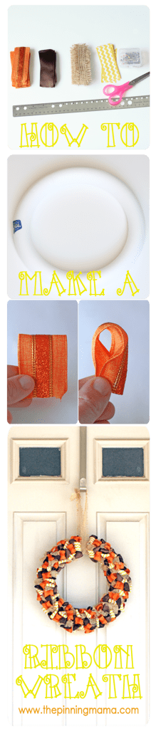 how to make a ribbon wreath www.thepinningmama.com