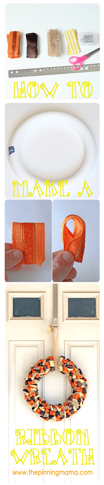 how to make bobbles with ribbon