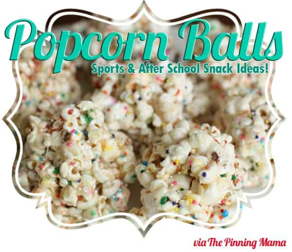 A delicious after school snack! How to make popcorn balls. www.thepinningmama.com