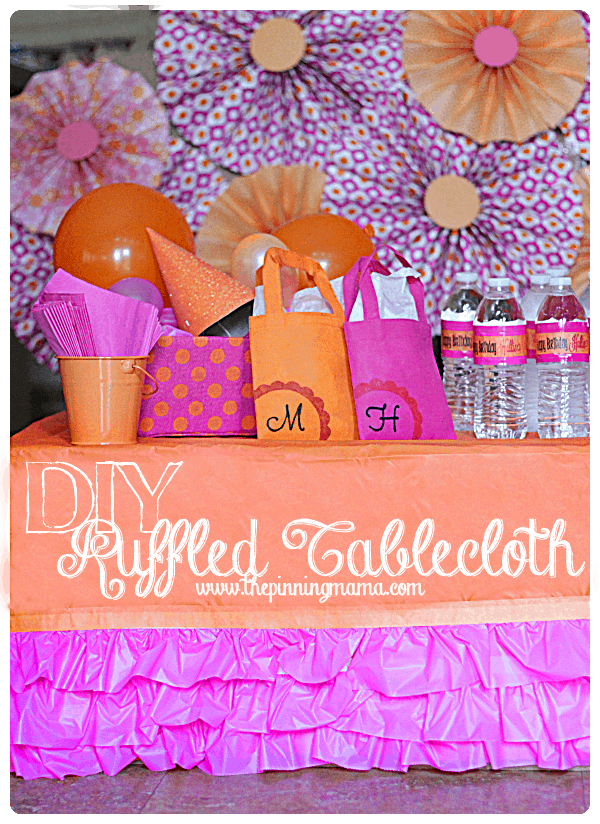 DIY Easy Ruffled Tablecloth - Click here for instructions!