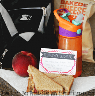 {Back to School} Lunch Box Notes