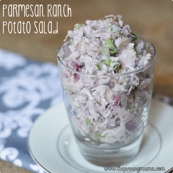 Party Parmesan Ranch Potato Salad - Click here for recipe!