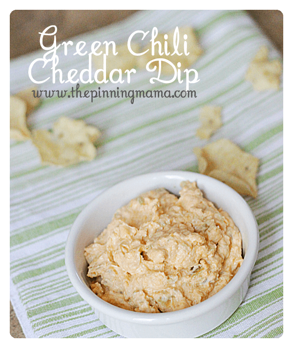 Green Chili Cheddar Dip