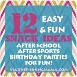 12 snack ideas www.thepinningmama.com