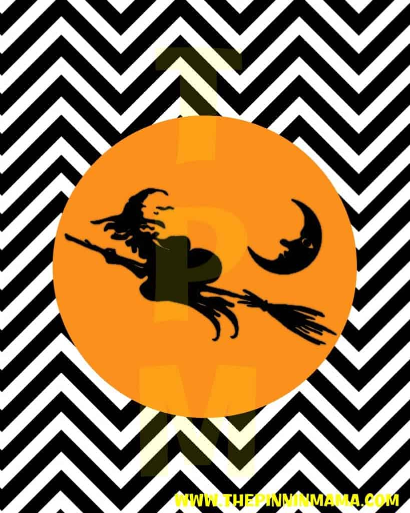 Free Printable Chevron Halloween printable from The Pinning Mama - Click here to download version without watermark