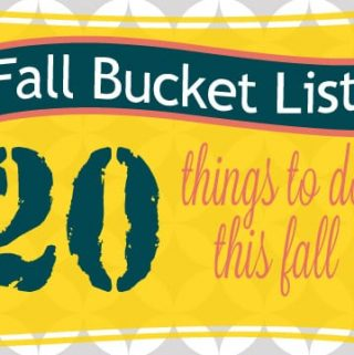 {Fall Bucket List} 20 Fall Ideas and Activities for Kids Including a Free Printable