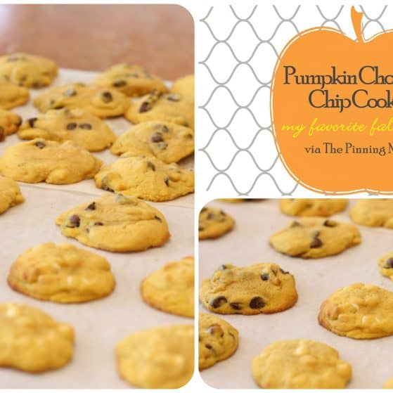 pumpkin chocolate chip cookies via the pinning mama