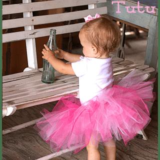 DIY No Sew Tutu for Little Girls