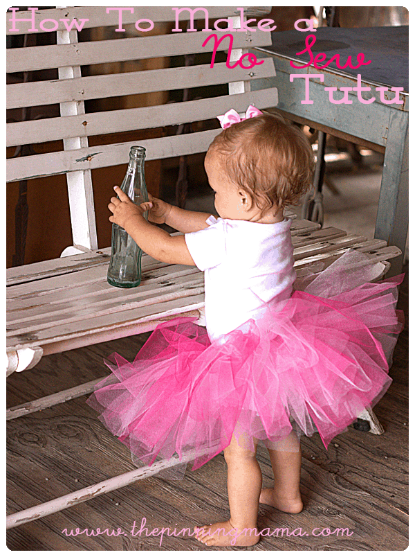 Diy No Sew Tutu For Little Girls The Pinning Mama