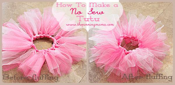 Diy No Sew Tutu For Little Girls The Pinning Mama