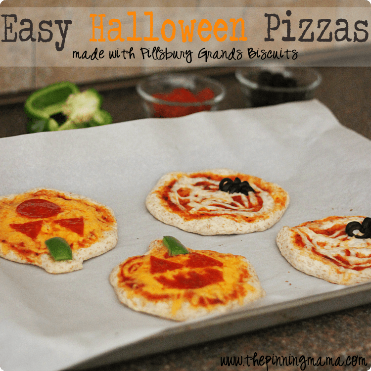 Easy Weeknight Dinner: Pillsbury Halloween Shaped Pizza -click here for recipe