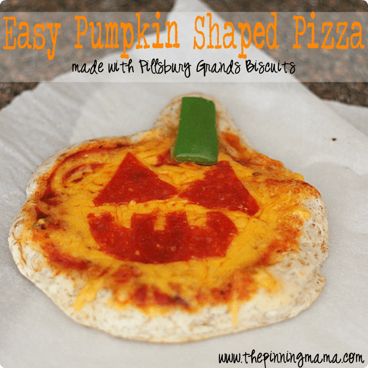 Easy Weeknight Dinner: Pillsbury Pumpkin Shaped Pizza -click here for recipe