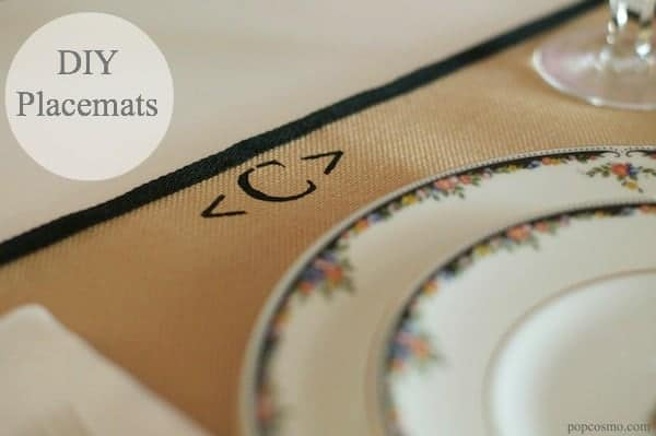 DIY placemats for group