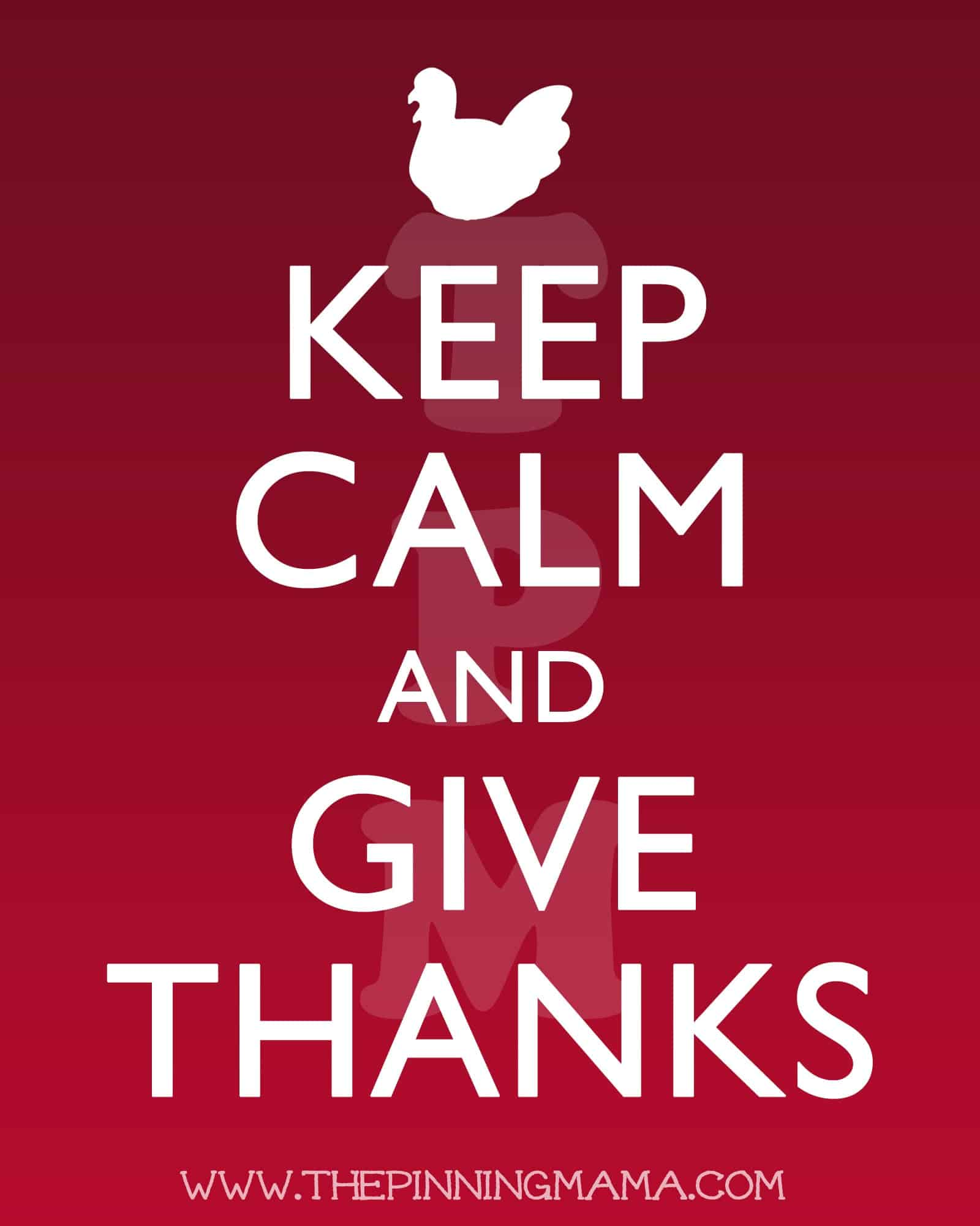 Keep Calm and Give Thanks Free #Thanksgiving #Printable by www.thepinningmama.com