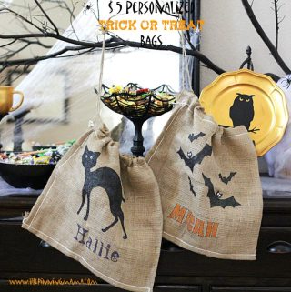 $5 Personalized Burlap Trick or Treat Bag