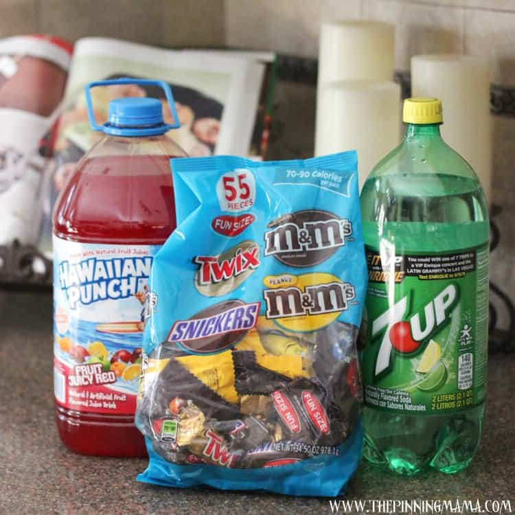 Easy Halloween Snacks: Color Changing Witch's Brew and Monster Eye Cookies #shop