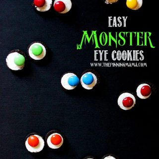 {Easy Halloween Recipes} Witch's Brew Punch and Monster Eye Cookies