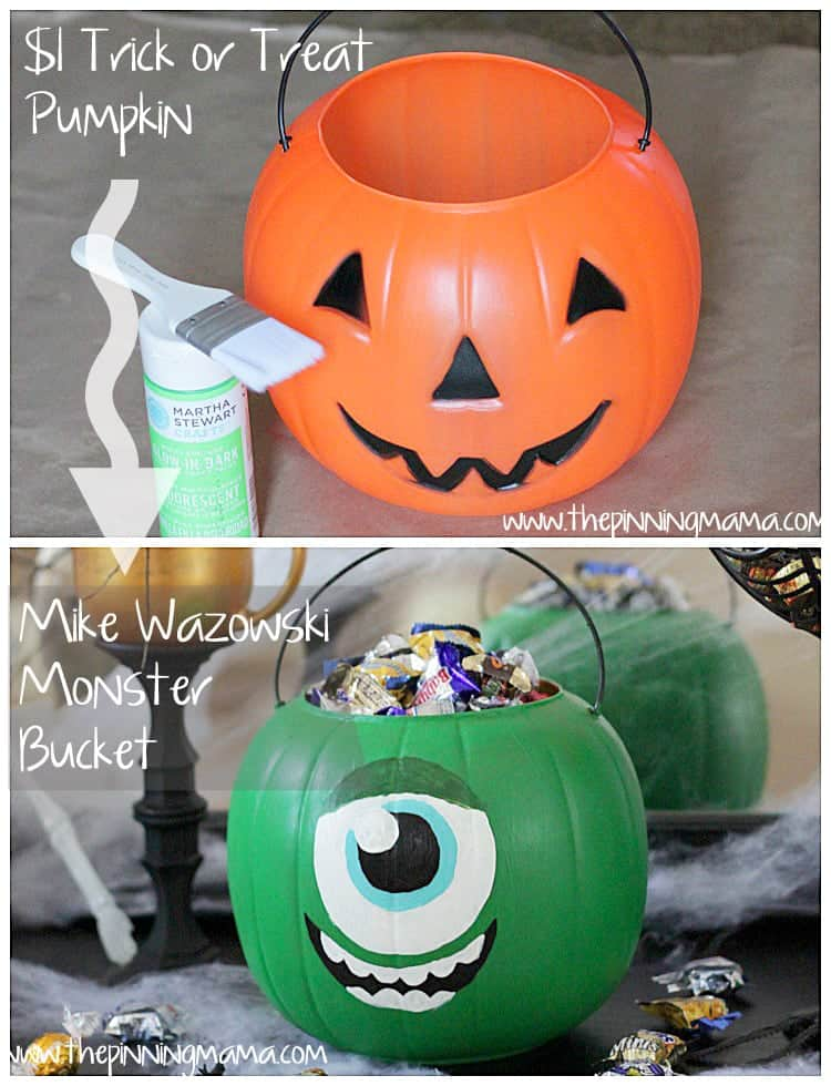 web Monsters University Trick or Treat Bucket 2