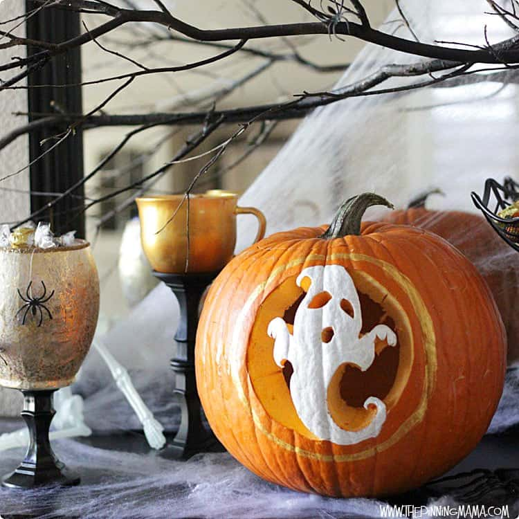 Pumpkin Carving + Paint with Pumpkin Master's to make a unique pumpkin