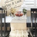 Easy DIY Reversible Burlap and Lace Table Runner