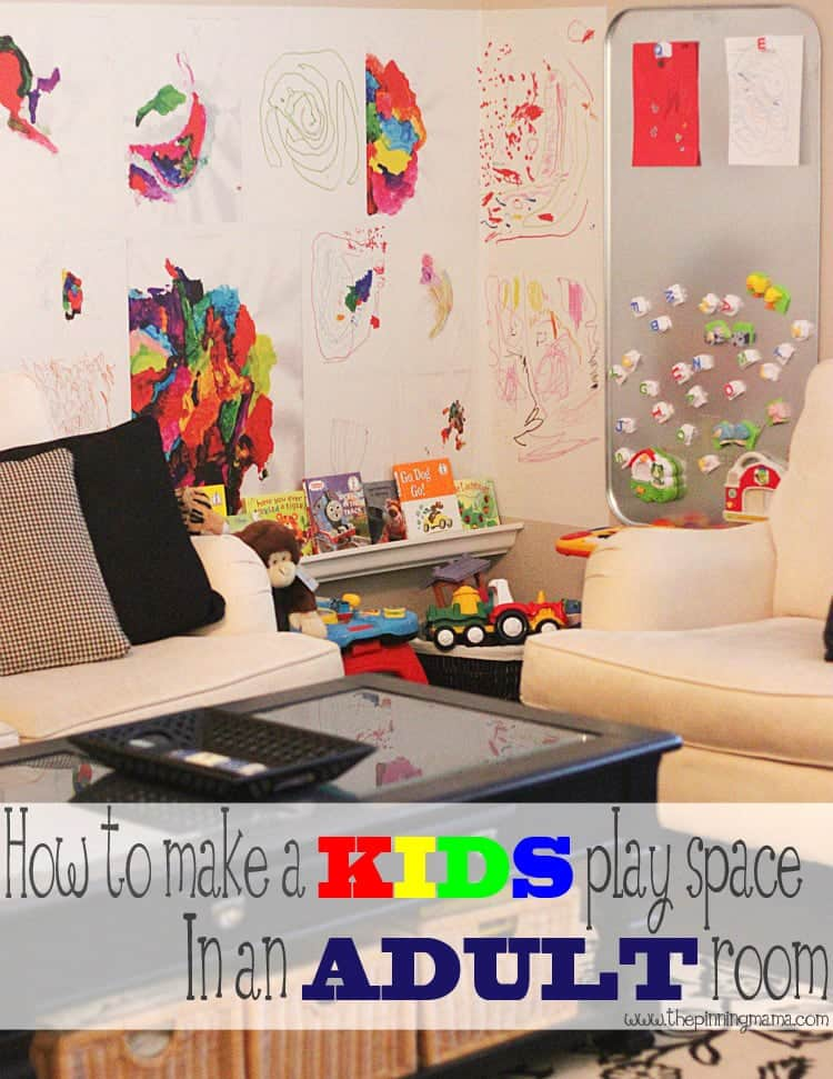 5 steps to making a kid space in an adult room the for Living room ideas kids