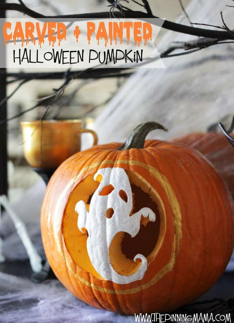 pumpkin carving paint with pumpkin masters to make a unique pumpkin - Halloween Pumpkins Painted
