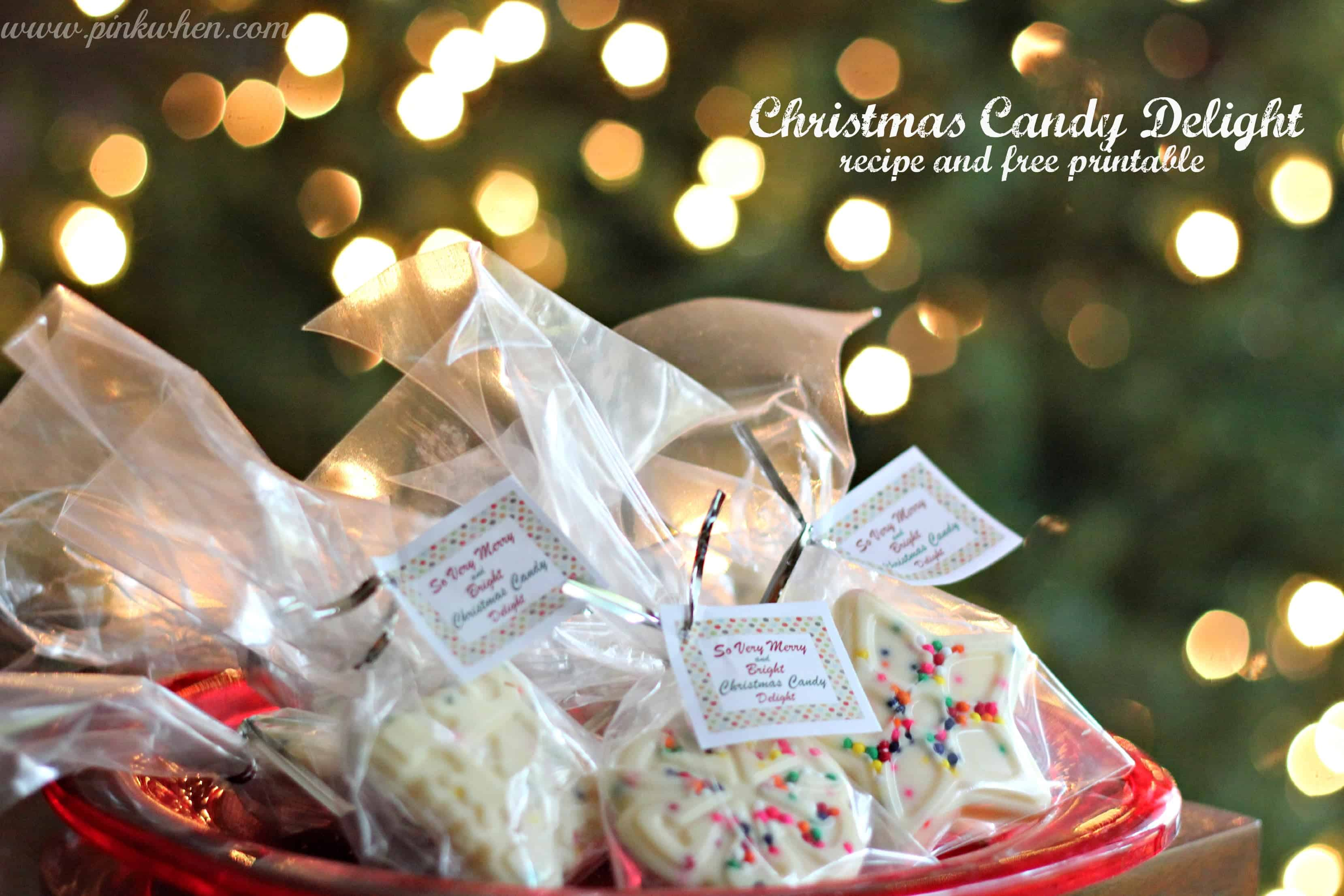 Christmas Candy Delight and Free Printable 1