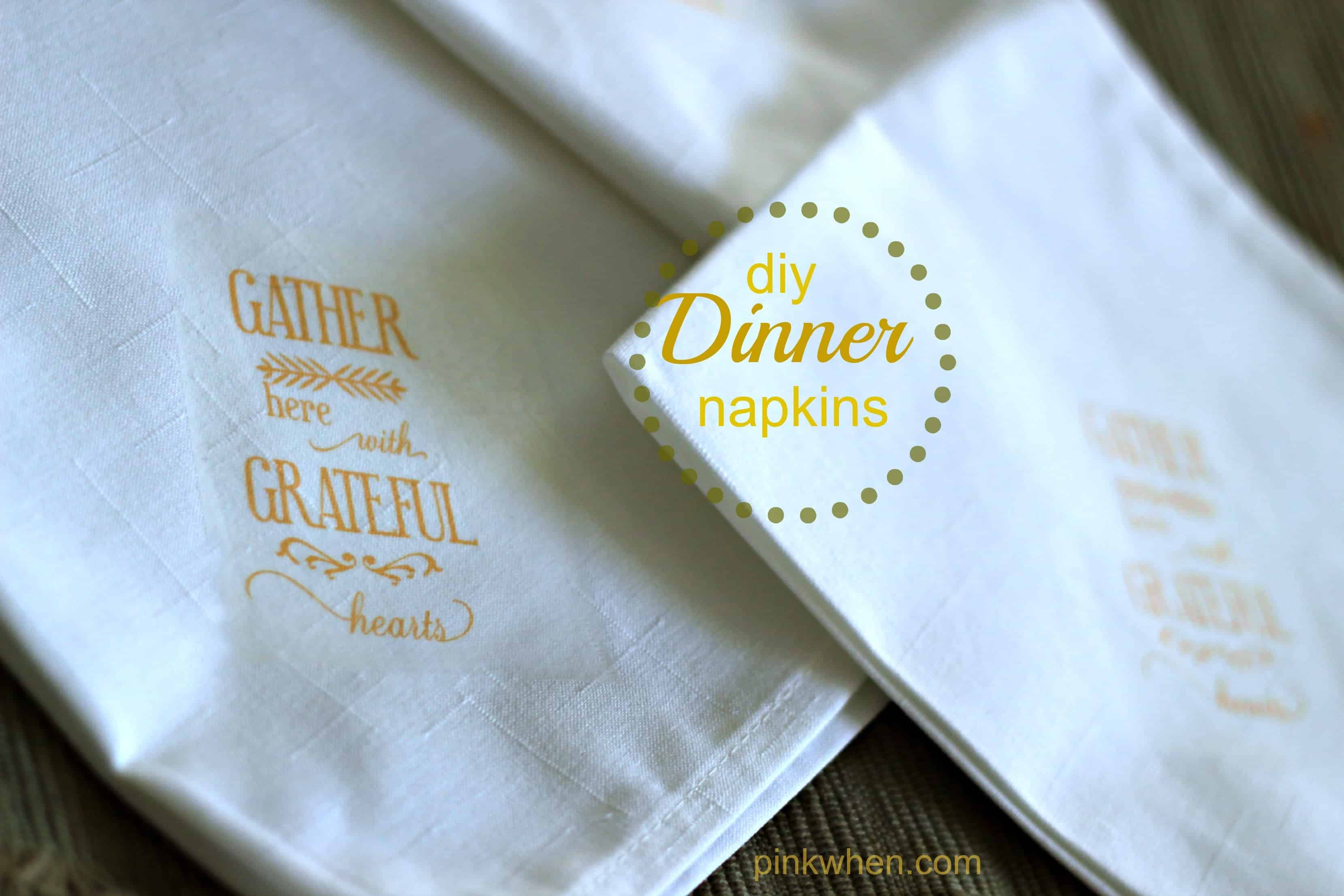 DIY Dinner Napkins
