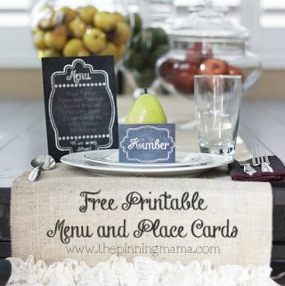 How to Plan the Perfect Holiday Menu + Free Printable Menu and Place Card