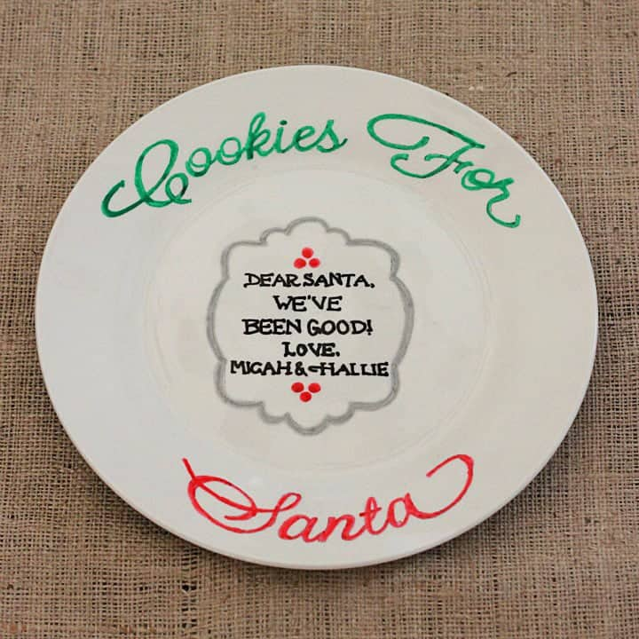 web Santa Cookie Plate 5
