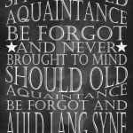 New Year's Eve Free Printable Auld Lang Syne by www.thepinningmama.com