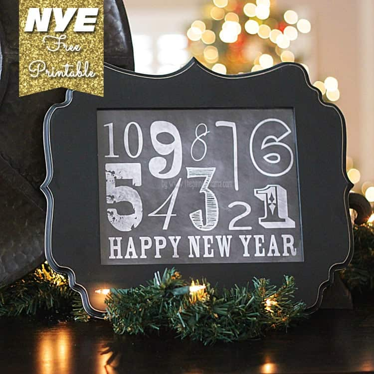 new year s eve chalkboard printable decor the pinning mama