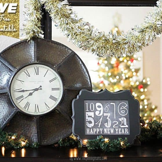 New Year's Eve Free Printable Download. Love the cute Chalkboard look!