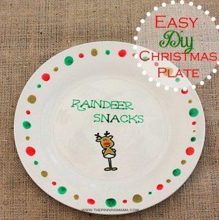 Easy DIY Christmas Plate