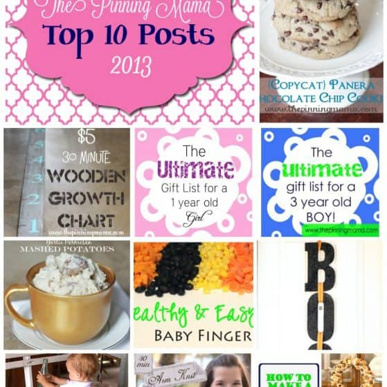 The Pinning Mama Top 10 posts 2013
