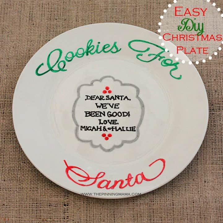 web Santa Cookie Plate 5.1