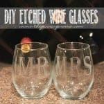 DIY Etched Wine Glasses