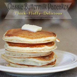Classic Buttermilk Pancakes Recipe ~ Thick, Fluffy & Delicious!