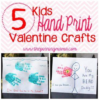 5 Kids Hand Print Valentine Craft Ideas
