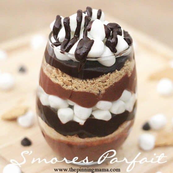 Smores parfait dessert recipe