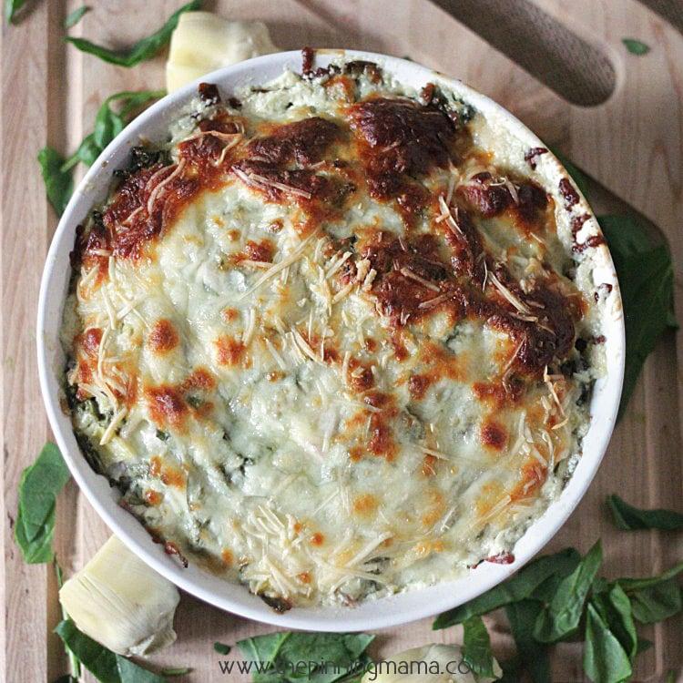 Best Ever Spinach Artichoke Dip Recipe | The Pinning Mama