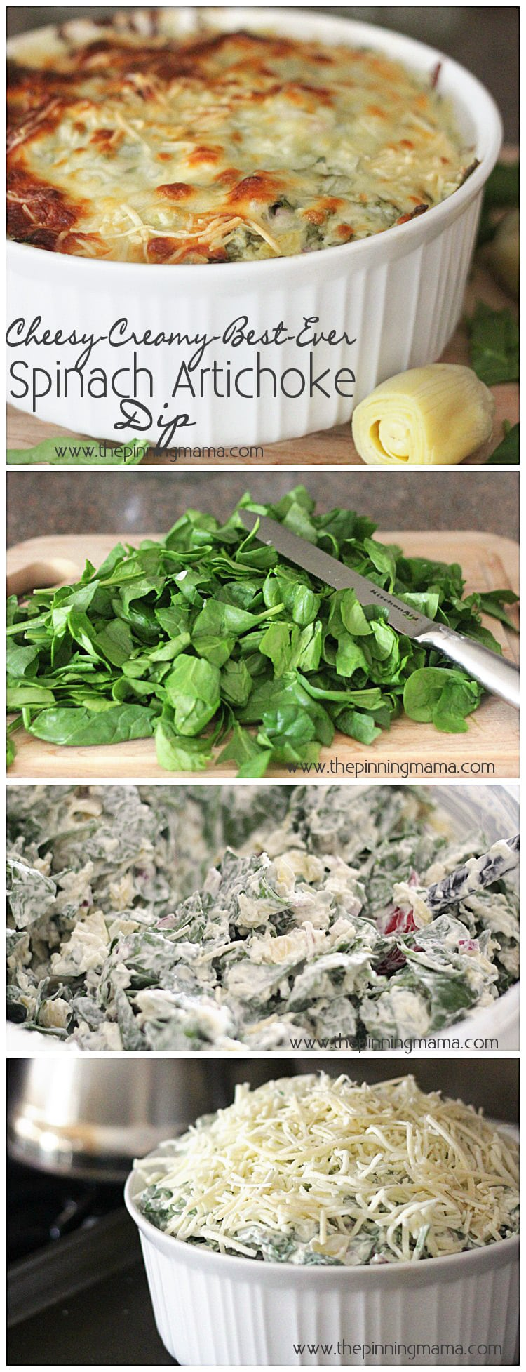 Best Ever Spinach Artichoke Dip Recipe | The Pinning Mama