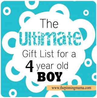 The Best List of Gift Ideas for a 4 Year Old BOY!