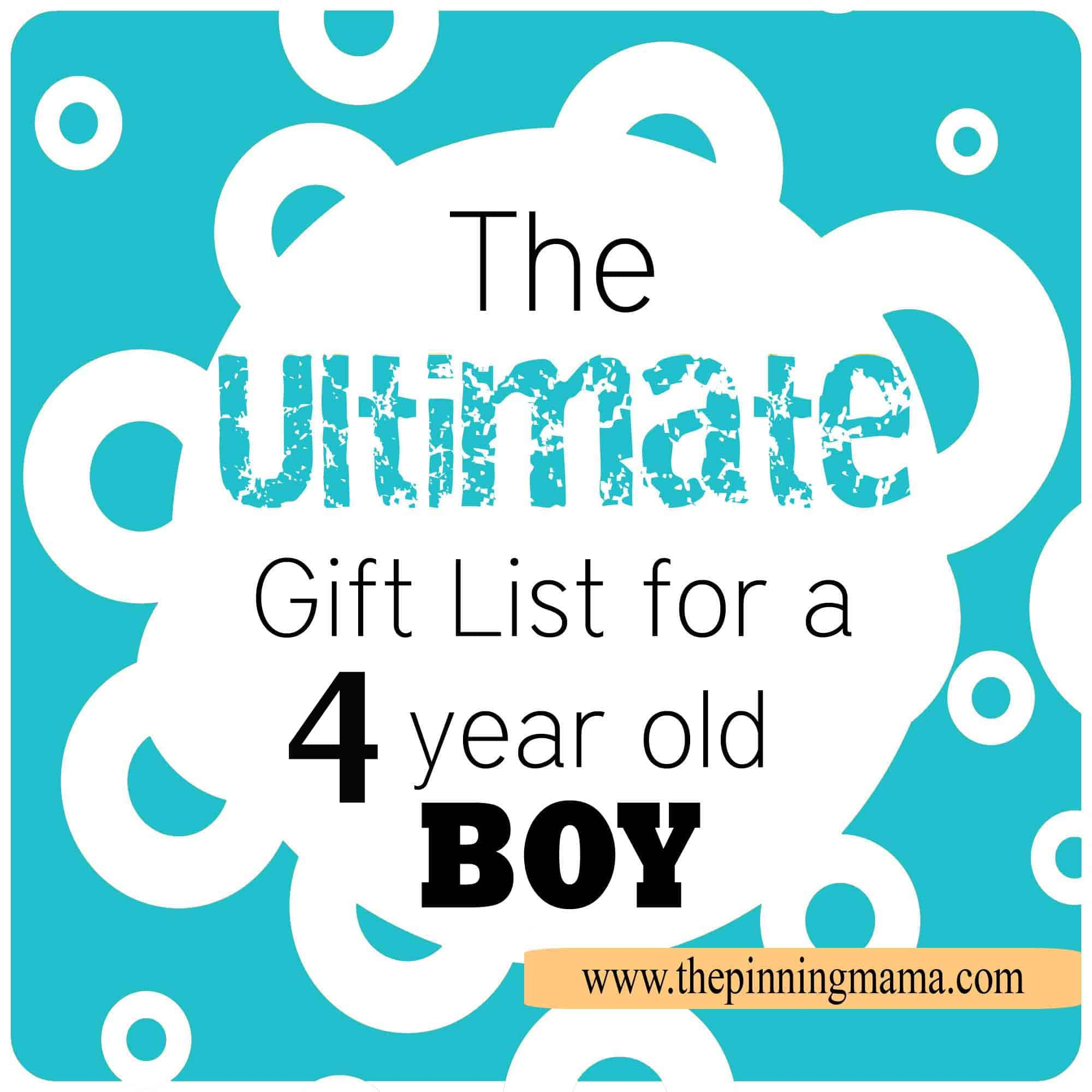 The Best List Of Gift Ideas For A 4 Year Old BOY