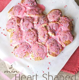 5 Minute Cinnamon Roll Heart Valentine's Breakfast with @Pillsbury