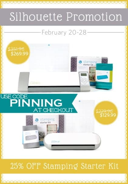 Silhouette Cameo Sale and Promo Code- Use Coupon Code PINNING at Checkout!
