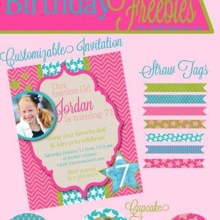 American Girl Birthday Free Printables + Silhouette Sale