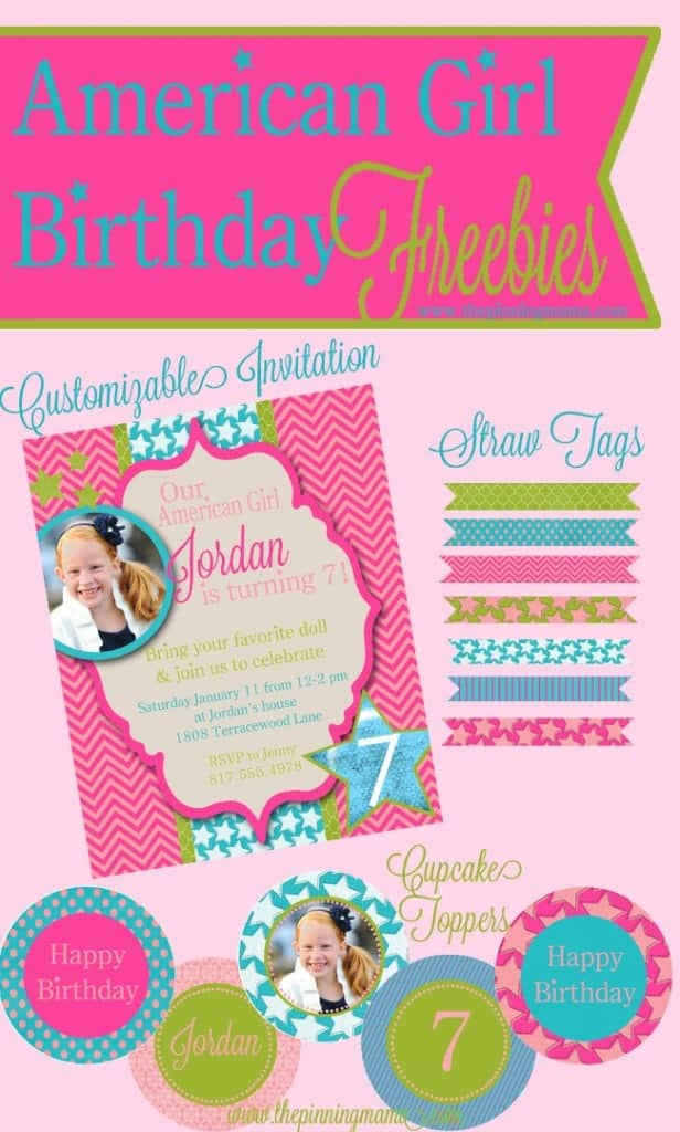 American Girl Birthday Free Printables + Silhouette Sale • The ...